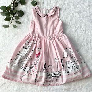 Newberry Girls Pink Chic Scene Dress